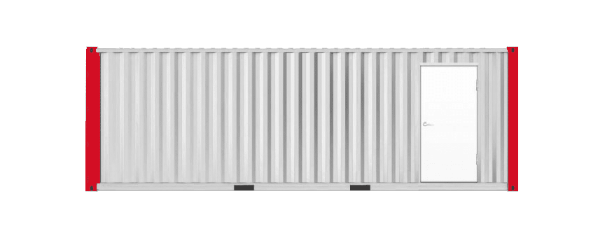 Photo of an office container.